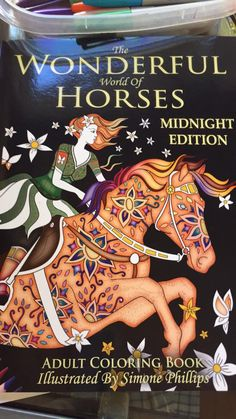 The Wonderful World of Horses: Midnight Edition: Images now with a midnight black background Horse Coloring Pages, Adult Coloring Pages, Coloring Books, Tangled, Wonders Of The World, Doodles, Boxes, Abstract, Illustration