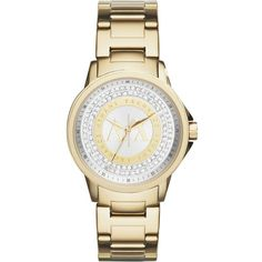 ARMANI EXCHANGE AX4321 Street gold-toned stainless steel watch (335 CAD) ❤ liked on Polyvore featuring jewelry, watches, gold, dial watches, gold tone jewelry, stainless steel wrist watch, armani exchange and stainless steel watches