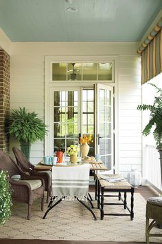 Multifunctional Porch   Reminiscent of elegant row houses found in Savannah and Charleston, our Senoia, Georgia, Idea House takes a refreshingly new approach to traditional style. Step inside to see our favorite ideas.