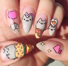 Pusheen Nails
