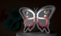 Butterfly Lights Night light Kids lamp Nursery night by Bukvamd