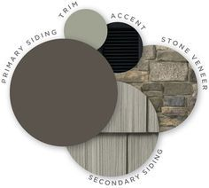 49 ideas exterior house siding colors vinyls stone veneer for 2019 Exterior Siding Colors, Exterior Color Schemes, House Paint Exterior, Exterior Design, Exterior Shutters, Louvered Shutters, Grey Exterior, Colour Schemes, Color Palettes