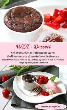 Glutenfreier Schokokuchen mit flüssigem Kern! www.rezepte-glutenfrei.de