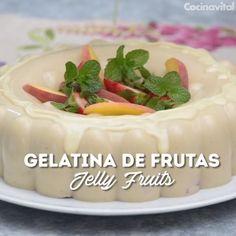Mango Dessert Recipes, Gelatin Recipes, Jello Desserts, Jello Recipes, Cold Desserts, Dessert Drinks, Sweet Desserts, Mexican Food Recipes, Sweet Recipes