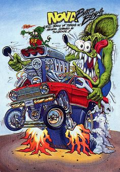 Rat Fink Ed Big Daddy Roth - Nova Bad Boys