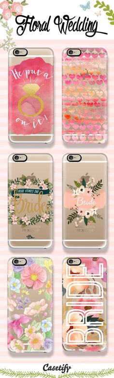 Top 6 floral wedding iPhone 6s protective phone cases | Click through to see more bridal iphone phone case ideas >>> http://www.casetify.com/artworks/QOyXioFbrT #floralprint | @casetify