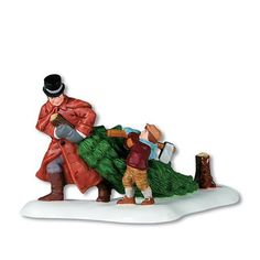 """$17.50-$17.50 Department 56 Dickens' Village Series? A Christmas Beginning - """"A Christmas Beginning"""" is a hand-painted porcelain figurine that features a father and son who have just cut down the perfect tree for their Christmas celebration.  This accessory is designed as part of the Dickens' Village Series by Department 56. http://www.amazon.com/dp/B000FJ14YM/?tag=pin2wine-20"""