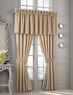 Matching zebra print curtains