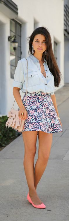 Floral Skirt Summer Style <3