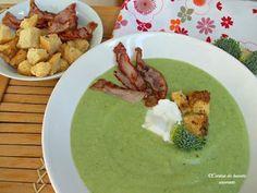Supa-crema de broccoli cu bacon
