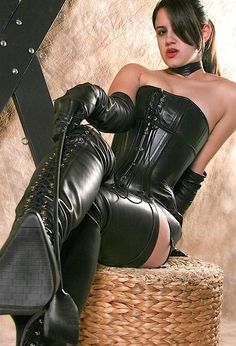 evilgoddessm:  Love her outfit!   If my wife dressed like this I would never want to leave the house.
