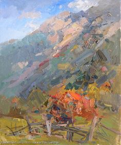 Vitaly Makarov Mahar Slopes - oil, canvas