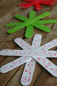 popsicle stick snow flakes