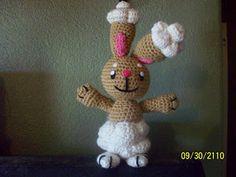Crocheted Buneary! One of my favorite pokemon! Free pattern