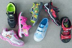 Pick up your kiddo a pair of sneakers or sandals with their favorite Disney characters on them! Choose from #Frozen, Princesses, #NinjaTurtles and #Cars themed!