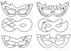 Masks to print- Maschere da stampare labs for kids masks to print and color kid. Masks to print- Maschere da stampare labs for kids masks to print and color kids craft mask carnival print l Kids Carnival, Carnival Masks, Mardi Gras, Activities For Kids, Crafts For Kids, Printable Masks, Mask Template, Felt Patterns, Mask Party
