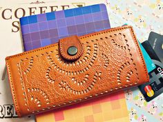 TORY handmade Women Wallet Vintage Boho Genuine Leather tooled leather Ladies Purse continental ethnic handmade gift carved wallet by nororoto on Etsy
