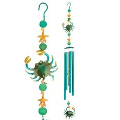This beautiful nautical wind accent will add character and style to your garden. You will enjoy all it has to offer plus a beautiful, colorful and soothing sound in your garden. The wind chime is made