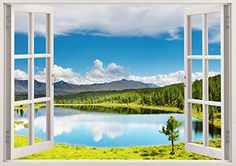"Seascape Lake View 3D Removable Vinyl Wall Sticker Mural Decal Home Window Large 33.5"" x 47"" Bomba-Deal http://www.amazon.com/dp/B00O9075FK/ref=cm_sw_r_pi_dp_46hnub1BDJF2S"