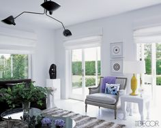 Does a mouille-esque light fixture make a room automatically worth photographing? Southampton, Elle Decor, Living Room Designs, Living Spaces, White Interior Design, Interior Design Companies, Beautiful Living Rooms, Interior Inspiration, House Design