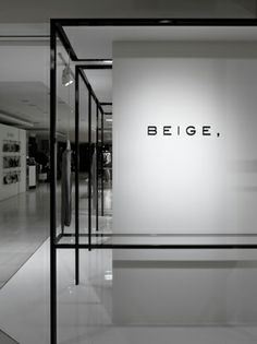 BEIGE, pop-up store