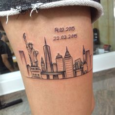 7 Best Ny Skyline Tattoo Images Beautiful Places Cities City