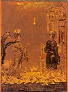 The Annunciation In Early Christian Art Early Christian, Christian Art, Religious Icons, Religious Art, Religious Images, Saint Catherine's Monastery, Feast Of The Annunciation, Sainte Catherine, Byzantine Art