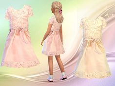 The Sims Resource: Porcelain Doll dress by Zuckerschnute20