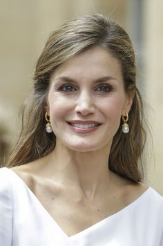 Queen Letizia of Spain visits the Francis Crick Institute during a State visit by the King and Queen of Spain on July 14, 2017 in London.