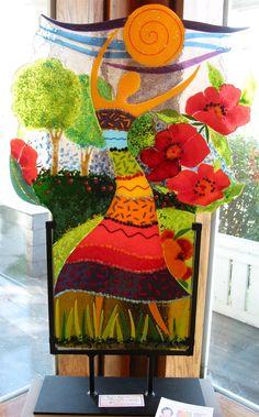 Anne Nye - I love her fuse glass art!