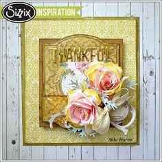 Sizzix Inspiration | Thankful Panel by Aida Haron