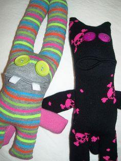 sock monster examples@Rachel Murdock