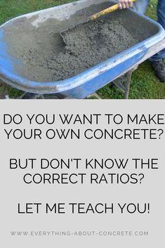 Concrete Ratio, Pouring Concrete Slab, Concrete Cement, Stained Concrete, Concrete Blocks, Concrete Countertops, Water Cement Ratio, Cement Work, Concrete Tools