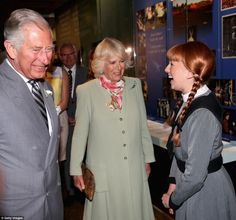 The Duchess of Cornwall and Prince Charles meet Anne of Green Gables at Province House in Charlottetown, Canada