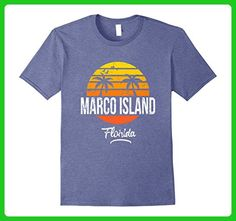 Mens Marco Island Florida Vintage T Shirt Retro Beach Style 2XL Heather Blue - Retro shirts (*Amazon Partner-Link)