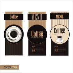 Retro style Coffee menu design 02 vector