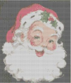Cross Stitch Pattern Cheery Vintage Santa PDF - Christmas Xmas Cross Stitch on Etsy, £2.50