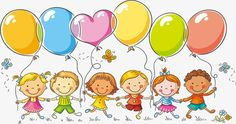 61 children's day balloons children PNG and Vector