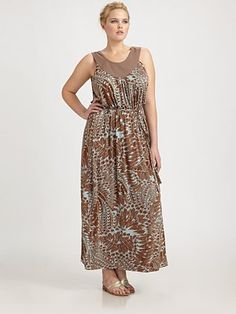 Anna Scholz, Salon Z Printed-Jersey Maxi Dress