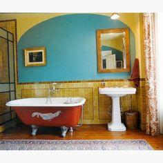 east village colorful bathroom turquoise bathroom bathroom red boho bathroom bathroom colors
