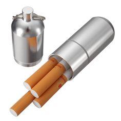 Portable Mini Cigarette Case Aluminum alloy Keychain Storage Boxes Cigarette Drug Pills //Price: $15.76 & FREE Shipping //     #Phones