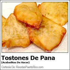 ♥LPR♥  Tostones De Pana  I believe Pana or Panapen in English is Breadfruit, I will call this recipe Breadfruit Fritters