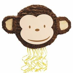 Pull string monkey piñata - cheapest at partybell or punchbowl.
