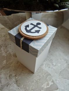 "box nautical decoration anchor - Schachtelset ""Nautic"" - æske maritim anker"
