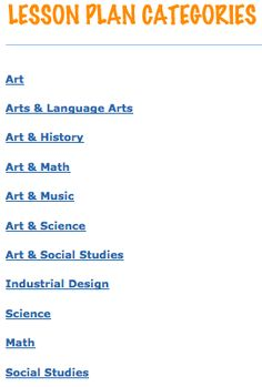 Resources to help incorporate art into every aspect of the classroom.