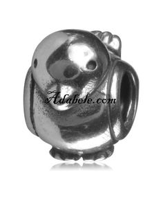 This beautiful adorable bird .925 Sterling Silver European charm fits Pandora, Biagi Trollbeads, Chamilia, and most charm bracelets find out more at adabele.com