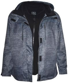 fe980b8462 Black Grey Pulse Women s Plus size and Extended Plus Size 3in1 ski jacket-  1X 2X