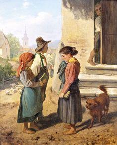 """Tyrolean scene"". Carl Müller-Baumgarten (1879 – 1946), German painter."