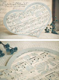 joy ever after :: details that make life loveable :: - Journal - papercut heart blue valentine