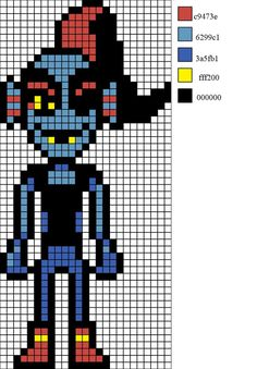 Rückgängig Undyne #ruckgangig #undyne Pixel Art Templates, Perler Bead Templates, Perler Patterns, Bead Patterns, Knitting Patterns, Beaded Cross Stitch, Cross Stitch Patterns, Hama Beads, Undertale Pixel Art
